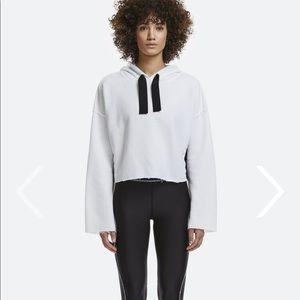 Alala stance hoodie sweatshirt Sz S cropped white